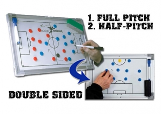 Πίνακας τακτικής ποδοσφαίρου 60 x 45 εκ., Αλουμινίου, 2 όψεων