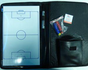 Πίνακας τακτικής ποδοσφαίρου ντοσιέ (δερματίνη) μαγνητικός