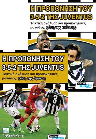 aeada2c49cb Η προπόνηση του 3-5-2 της Juventus (2 βιβλία σετ: άμυνα & επίθεση ...