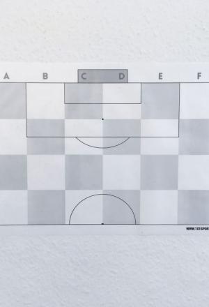Αυτοκολλούμενα Φύλλα Τακτικής Ποδοσφαίρου 1x1SPORT Μισό γήπεδο