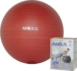 Μπάλα γυμναστικής pilates (75 cm - 1.700 gr) Amila - κόκκινη