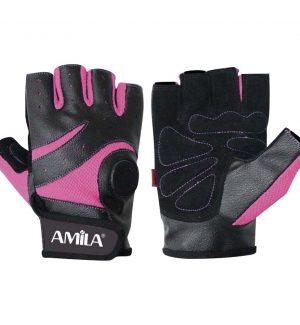 Μισόγαντα Άρσης Βαρών ροζ μαύρο