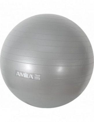 Μπάλα γυμναστικής & pilates (65 cm - 1,20 kg) - Amila - γκρι/ασημί