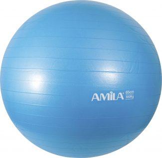 Μπάλα γυμναστικής & pilates (65 cm) - Amila - μπλε