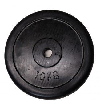 Δίσκος βαρών με επένδυση από λάστιχο 10 kg