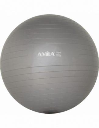 Μπάλα γυμναστικής pilates (75 cm - 1.700 gr) Amila - Γκρι
