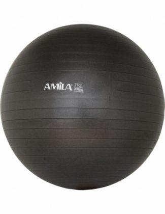 Μπάλα γυμναστικής pilates (75 cm - 1.700 gr) Amila - Μαύρη