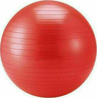 Μπάλα γυμναστικής pilates (75 cm - 1,50 kg) με τρόμπα κόκκινη
