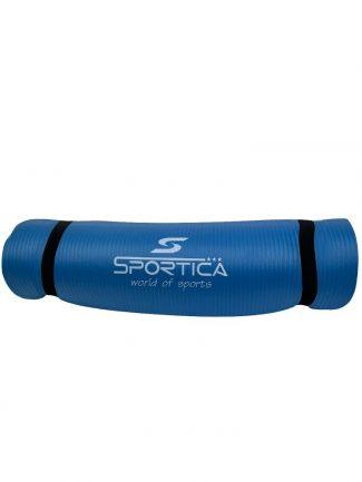 Στρώμα γυμναστικής yoga mat από NBR 1.80 μ., 10mm, μπλε - Sportica