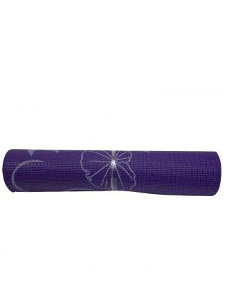 Στρώμα γυμναστικής yoga mat 1.70 μ., 6mm, μωβ - Sportica