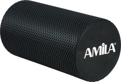 AMILA Foam Roller Φ15x30cm Μαύρο