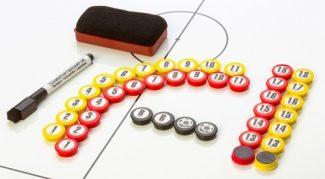 Σετ αριθμημένα μαγνητάκια 20mm + μαρκαδόρος & σφουγγαράκι