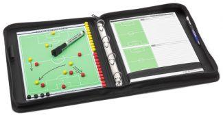 Δερματόδετος ντοσιέ-πίνακας τακτικής ποδοσφαίρου T-PRO με σημειωματάριο για ασκήσεις