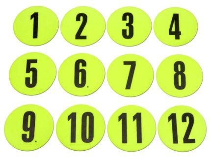 Markers Δίσκοι φλατ με αρίθμηση T-PRO